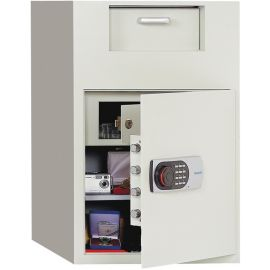 Front Loading Digital Lock Depository Safe with Inner Locking Door 3.48 cu ft