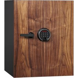 DBAUM Fingerprint Lock Luxury Fire Resistant Safe with Walnut Door 2.28 cu ft