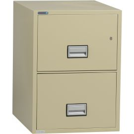 Vertical 25 inch 2-Drawer Letter Fire and Water Resistant File Cabinet
