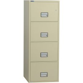 Vertical 25 inch 4-Drawer Letter Fire and Water Resistant File Cabinet